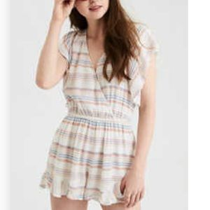 wrap front romper American Eagle Outfitter Tieback